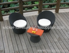 Outdoor leisure wicker chairs
