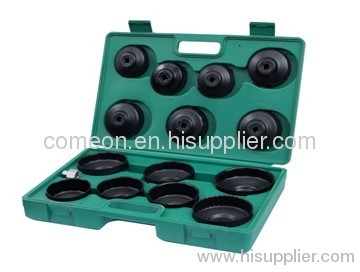 15pcs Cap Wrench Set & Oil Filter Wrench - End Cap