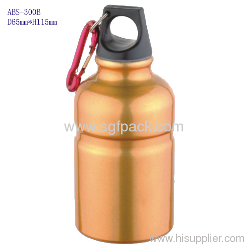 aluminum bottle with bamboo pump