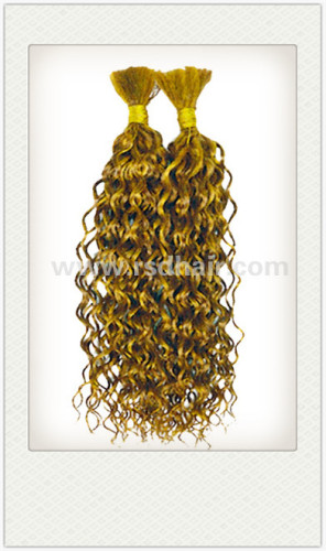 multicolor curly human hair bulk