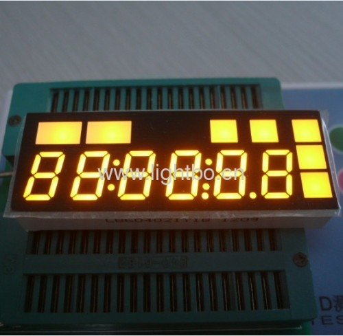 Six-Digit 10.2mm (0.4 inch) Ande Yellow 7 segment led display