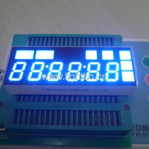 "6 digit 0.4"" anode ultra bright blue 7 segment led display"