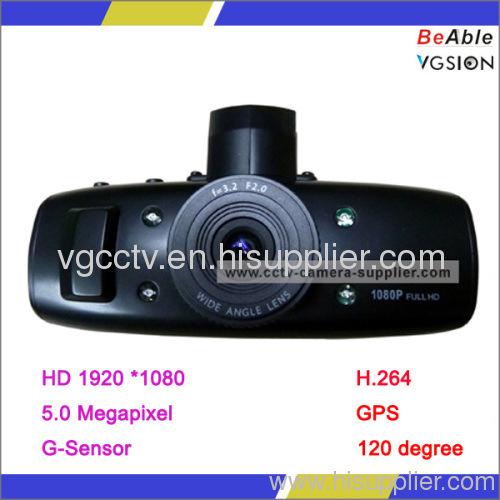 CPU GPS & G-Sensor Vehicle Portable Car DVR Camera