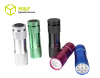 aaa battery operated 9leds portable led flashlight