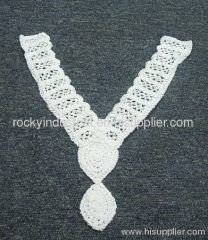 Bright White Cotton Necklace