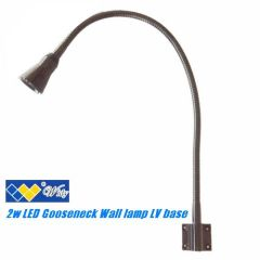 2W Chrome Stylish Wall Mount LED Reading Lamp/ Desk Lamp/ Bed Lamp with Flexible Arm & On/ Off Switch