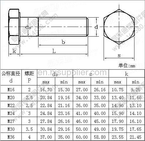 Metric Heavy Hex Structural Bolts Products China