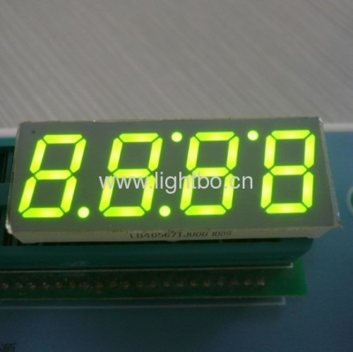 4 digit 0.56 inch Common Anode Ultra Amber 7 Segment LED Display