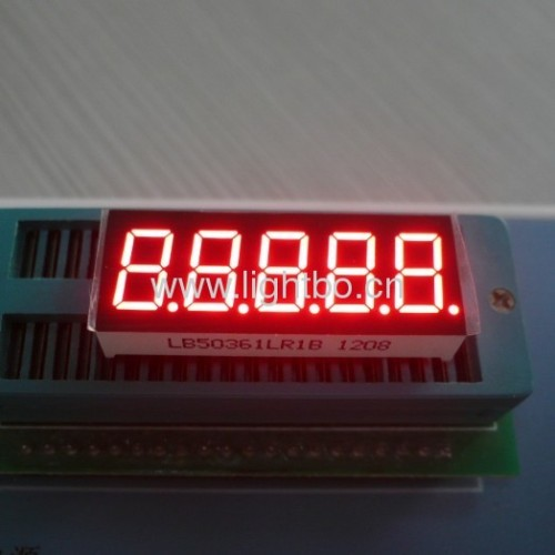 5 digit 0.36 inch common cathode super bright red 7 segment led display