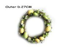 Artificial Flowers Wreath, Silk Flowers Artificial Flower & Egg ring