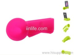 Cute Portable Colorful Silicone Horn Stand Amplifier Speaker For iPhone 4 4S 4G