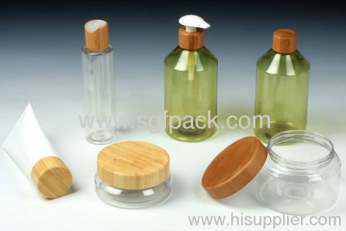 disc top cap bamboo cap 20/410 cap 24/410 cap lotion bottle cap cosmetic container bamboo package