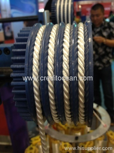 High speed Three strands twisted rope machine