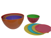 Two Tone Mixing Bowl Set of 4 with Lids
