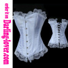 White satin lace trim lace corset