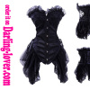Black sexy lace boneless corset dress