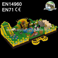 2014 New Trampoline Madagascar Inflatable Playground