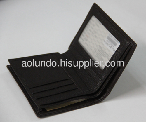 2013 fashion embossed genuine leather men wallet
