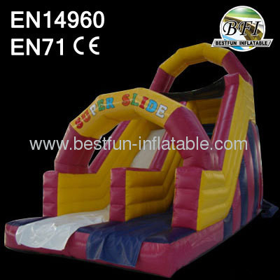 Pink Inflatable Dry Slide