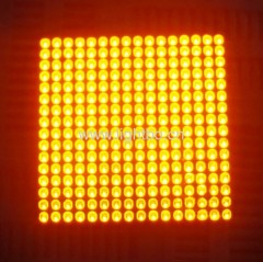 Ultra Bright Orange 3mm 16 x 16 dot matrix led display ( 64 x 64 x7.5mm)