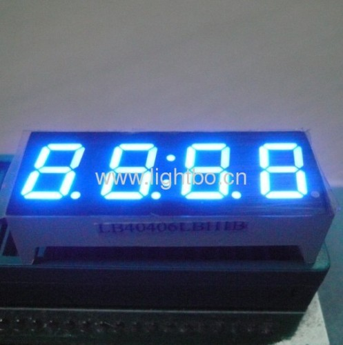 Ultra Blue four digit 0.4-inch common Anode seven segment led displays for set-up boxes