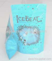 Plastic chemical bag with stand up bottom
