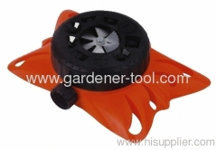 plastic 9 dial stationary lawn water sprinkler