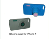Silicon camera iphone cover for iPhone 5 case