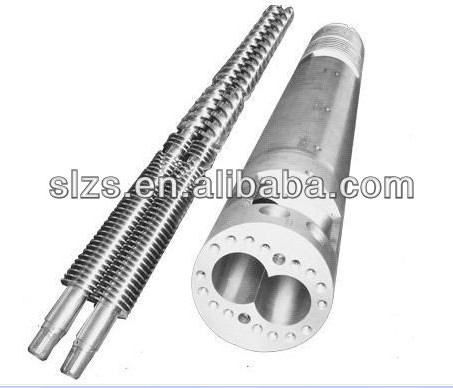 conical twin screw and barrel for extruder machine