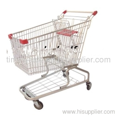 best selling supermarket metal trolley store hand cart grocery shopping carts