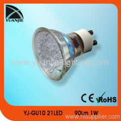 GU10 1W plastic suction cup led lamp