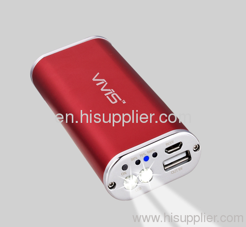 HOT 5200MAH Power Bank with Samsung Battery Inside Practical flashlight torch OEM ODM China Manufacture