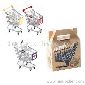 Toy chrome plated gift mini shopping cart /kids trolley/child carts