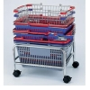 Chrome Wire mesh shopping baskets/ gift basket/plastic basket with metal handle