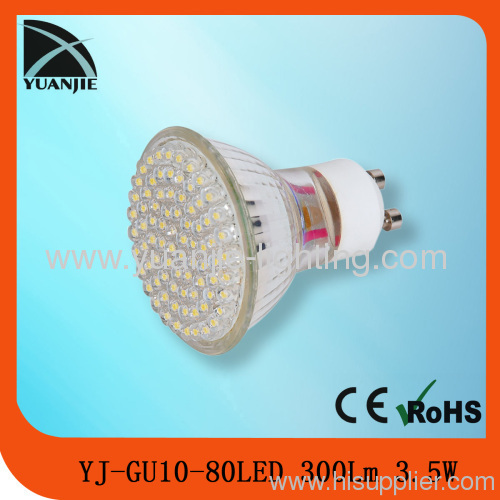 80led 3.5w CE&ROHS GU10 MR16 E14 E27 led spot light lamp