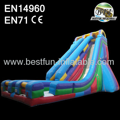Double Lanes The Edge 35' Inflatable Slide