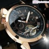 Mens Leather Automatic Mechanical Watch