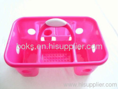 plastic bath baskets with handle