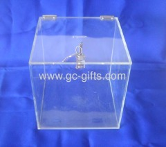 Clear acrylic contribution boxes