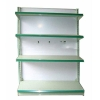 Double-side gondola shelf direct from factory/usa style supermarket shelf/metal stand for cake /candy shelf