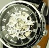 Mens mechanical leather wrist watch 2013