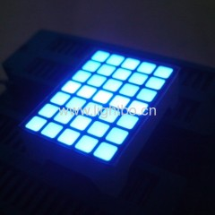 "3.39x3.39mm Ultra Blue 1.1"" 5 x 7 blue square dot matrix led display ( 22x30x10mm) for hall position indicatotrs"