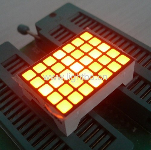 3.39mm 5 x 7 whtie square dot matrix led display with package dimensions 22x30mm