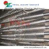 Bimetallic twin screw and barrel