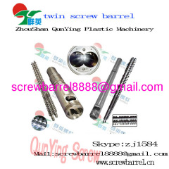 Conical twin screw and cylinder