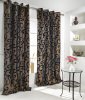 flocking taffeta window curtain