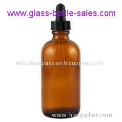 2oz Amber Boston Round Bottle With Dropper