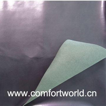 Pu Shoe Leather With Suede Fabric