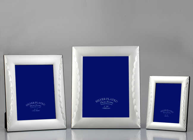 8x10Simple design silver plated aluminium Photo Frame