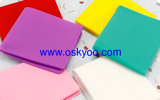 New cute candy-colored silicone wallet card package Meng card sets short paragraph for men and women